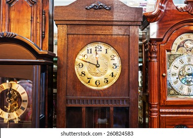 An Antique Clock old time passing .