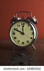 Antique clock with retro decoration effect