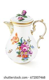 antique coffee pot from 19th century (Biedermeier time).