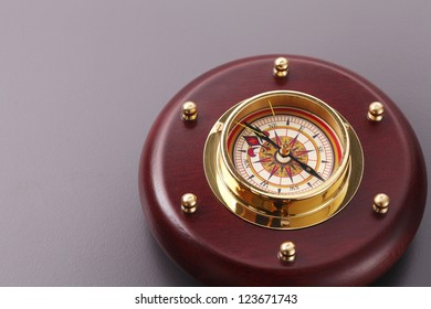 antique compass with copy space