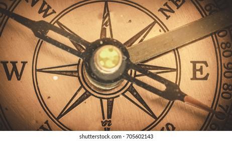 Antique Compass Face
