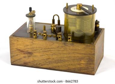 Antique crystal wireless or radio set