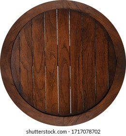 antique dark brown teak wood tray, laminated wood bars with round border frame