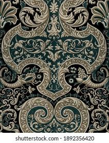 Antique decoration. Vintage ornament baroque.