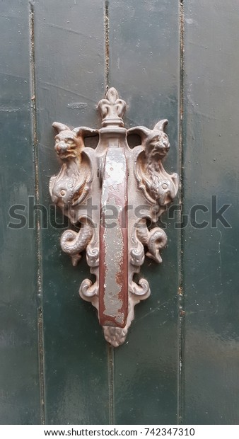 Antique Decorative Door Knockers Shape Two Stock Photo Edit Now 742347310