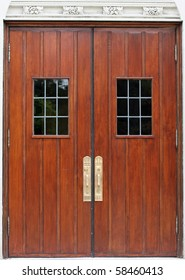 Antique Double Doors with windows and handles