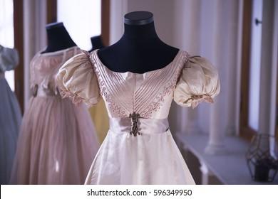 Antique Dress detail on tailors mannequin at Schloss Fall castle