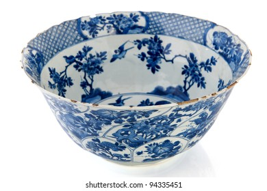 Antique Dutch bowl in Delfts blue