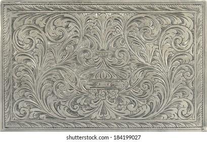 Das antike Silber kann als Dekoration verwendet werden