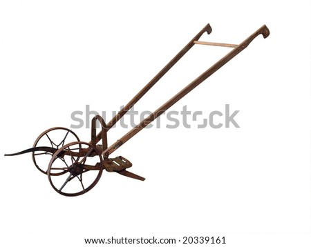 Antique Farm Equipment Isolated Clipping Path Stock Photo Edit Now