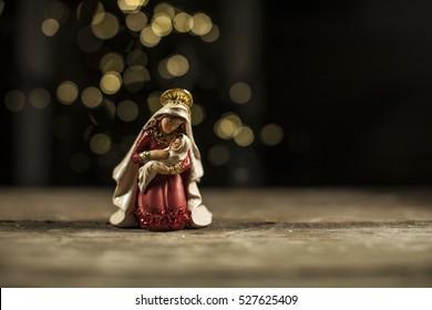 Antique Figurine Nativity Christmas statues