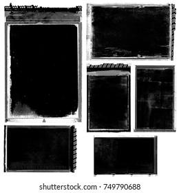 Antique film negatives