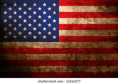 antique flag of america