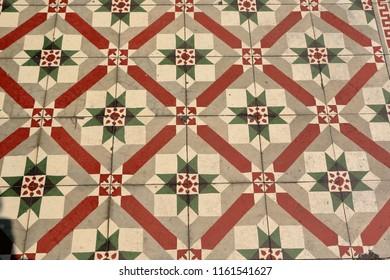 antique floor tiles design found in Georgetown, Penang