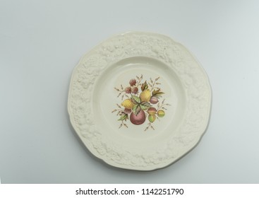 antique floreal plate