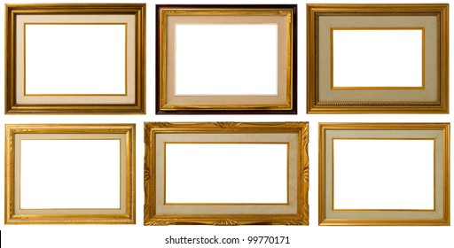 Antique frame collection, italian style,  isolated on white background - Look on my portfolio for bigger file size.