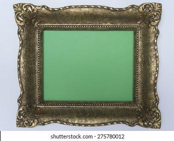 Antique frame green background