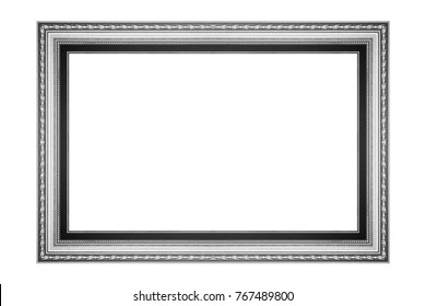 The antique frame on white background