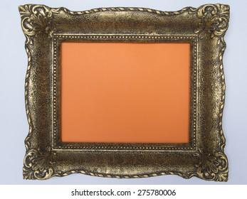 Antique frame orange background