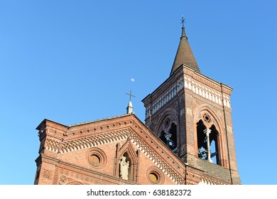 Antique Franciscan church Santa Maria in Strada in the city of Monza, Lombardia, Italy