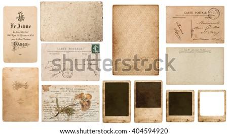 Antique French Paper Carte De Visite Postcard Postale Photo Frame Cardboard