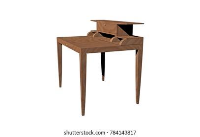 Antique furniture 3D rendering