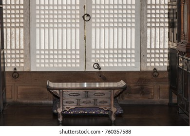 Miraculous Bench Against Wall Windows Italy Stock Photo Edit Now Andrewgaddart Wooden Chair Designs For Living Room Andrewgaddartcom