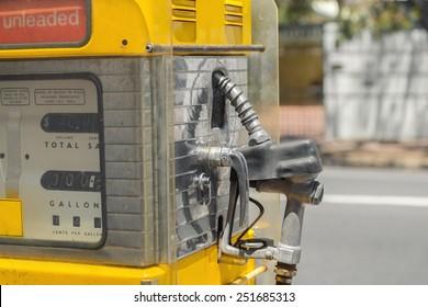 Antique gas station pump