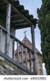 Antique georgian monastery Ikalto in Telavi , Kakheti , Georgia