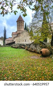Antique georgian monastery Ikalto in Telavi , Kakheti , Georgia
