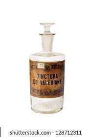 Antique glass bottle for pharmaceutical use