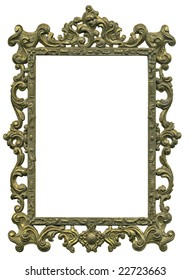 Antique gold frame from early 1900's. Lots of grunge intact. With complete work path.