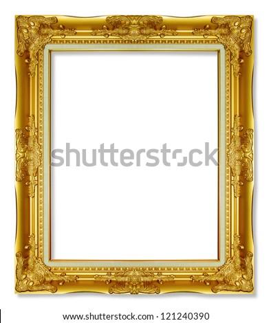 Antique Gold Frame On White Background Stockfoto Jetzt Bearbeiten