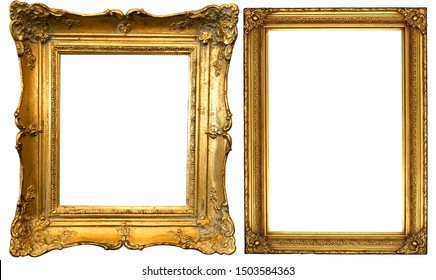 antique gold isolated decorative frame
