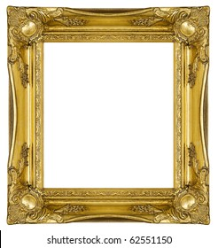 Antique Gold Picture Frame, with clipping path