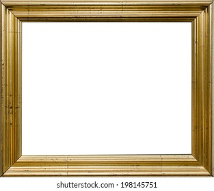 Antique golden frame with blank space inside