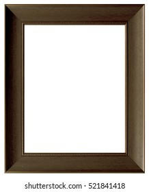 antique golden frame isolated on white background with clipping path.