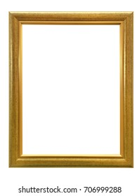 antique golden frame isolated on white background with clipping