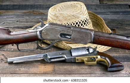 Antique guns that won the wild west.