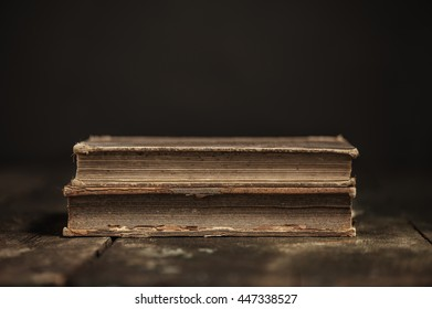 Antique hard cover aged books