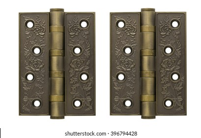antique hinge on a white background