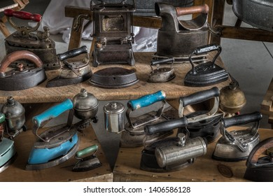 Antique Iron Display - Steam and Iron