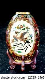Antique Japanese cloisonne vase made in the Meiji Period around 1890.