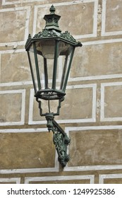 Antique lamp on the wall - Shutterstock ID 1249925386