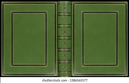 antique leather bookbinding book cover