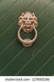 Antique Lion Doorknob
