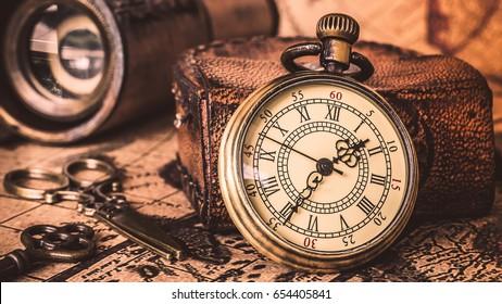 Antique Locket Watch Necklace