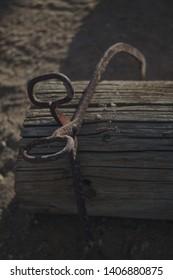 Antique Log Puller with Log