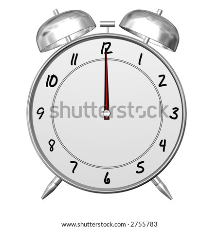 Antique Looking Alarm Clock Viewed Front Stock Photo Edit Now