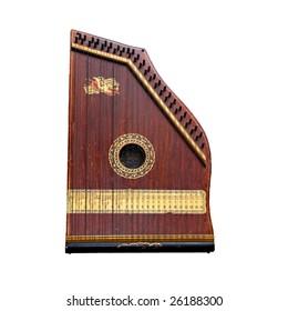 Antique Mandolin Guitar (Isolated on White)